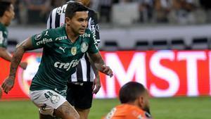 Dudu celebra el gol que dio el pase a la final de la Libertadores