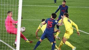 El polémico gol de Pedraza en propia puerta ante el Atlético de Madrid