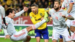 El último partido entre España y Suecia culminó en empate