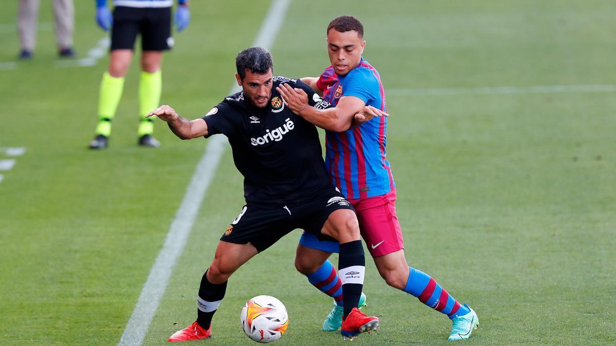 Dest tuvo la primera ocasión del Barça ante el Nàstic
