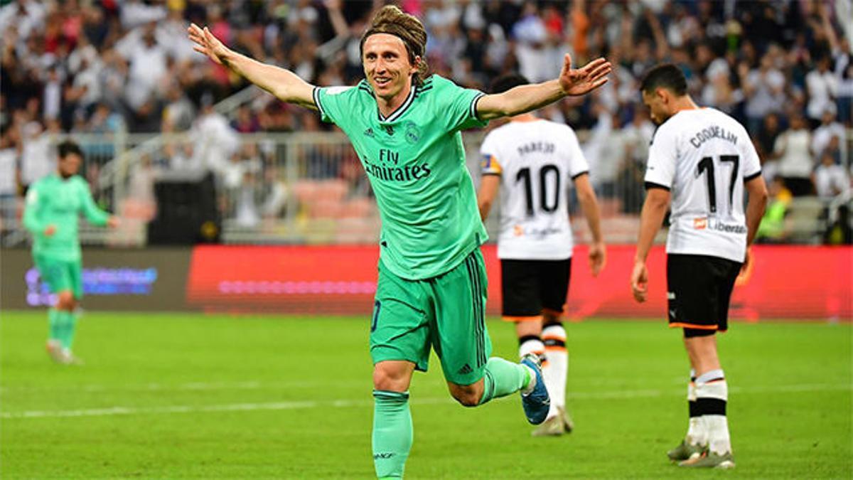 Exquisitez técnica de Modric para sentenciar al Valencia