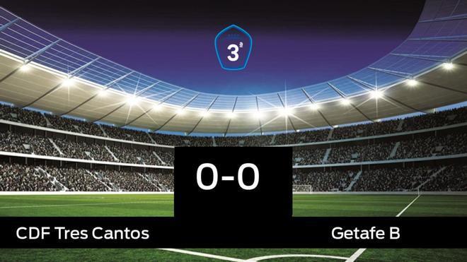 El Tres Cantos y el Getafe B se repartieron los puntos tras un empate a cero