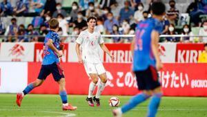 Pau Torres, durante el encuentro amistoso ante Japón