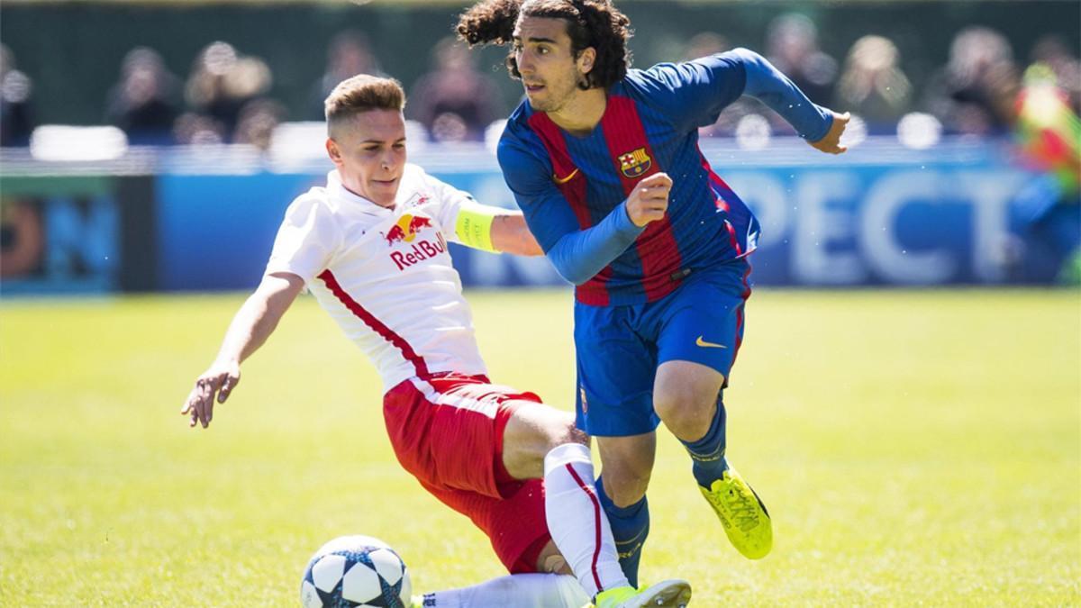 Marc Cucurella, en la Youth League ante el Salzburgo