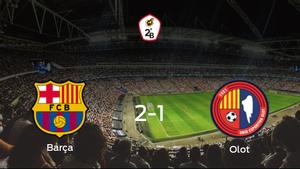 Los tres puntos se quedan en casa: Barcelona B 2-1 Olot