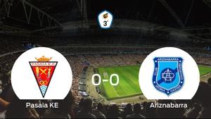 El Pasaia KE y el Ariznabarra se reparten los puntos en un partido sin goles (0-0)