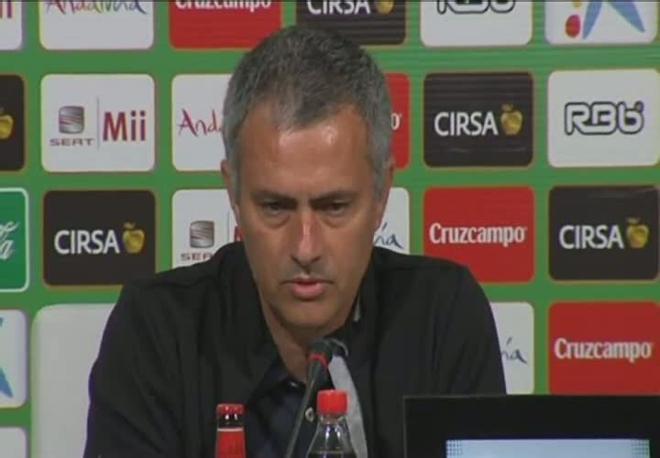 Mourinho cree que el Betis mereció el empate
