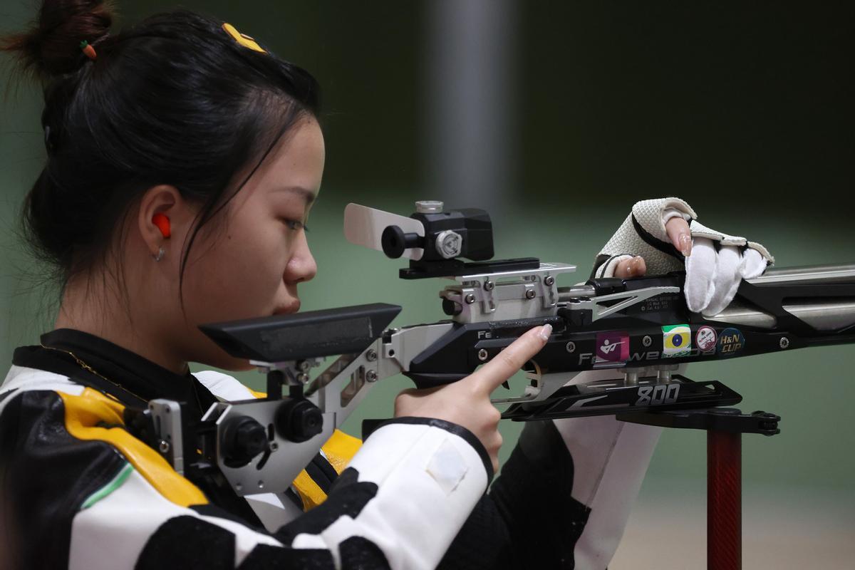 La campeona olímpica Yang Qian.