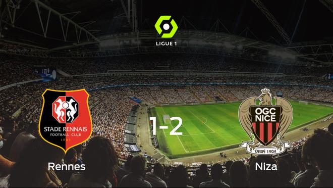 El OGC Niza gana 1-2 en el estadio del Stade Rennes