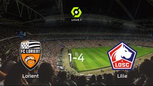 El Lille OSC se lleva los tres puntos a casa tras golear al Lorient (1-4)