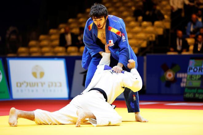 Alberto Gaitero, durante los Europeos de judo