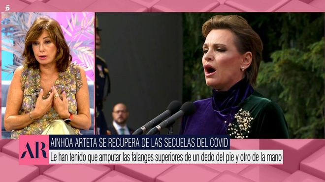 Ana Rosa Quintana revela el estado en el que se encuentra Ainhoa Arteta