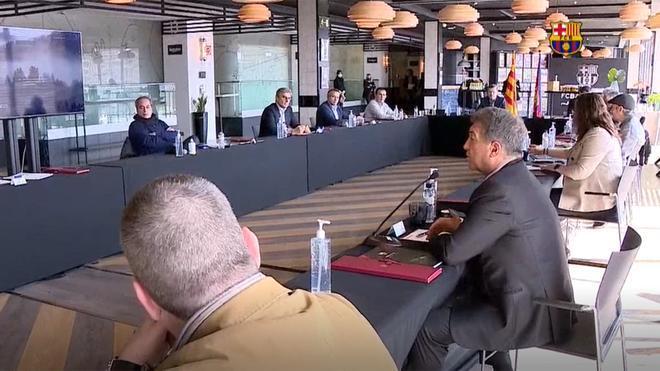 La primera Junta Directiva de Laporta formaliza los cargos