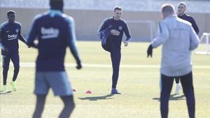 El Barça regresa al trabajo tras la derrota ante el Levante