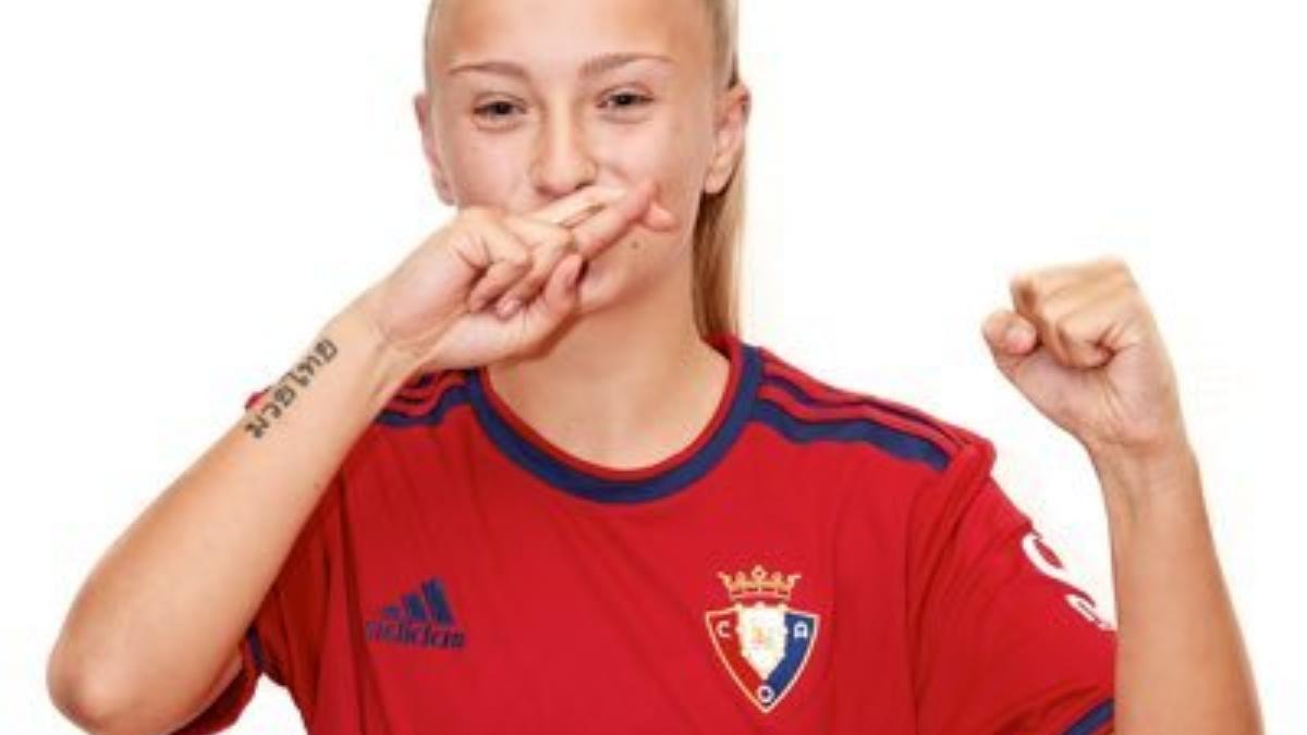 Karolina Sarasua, jugadora del Fundación Osasuna B