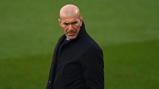Zidane durante el partido contra el Eibar