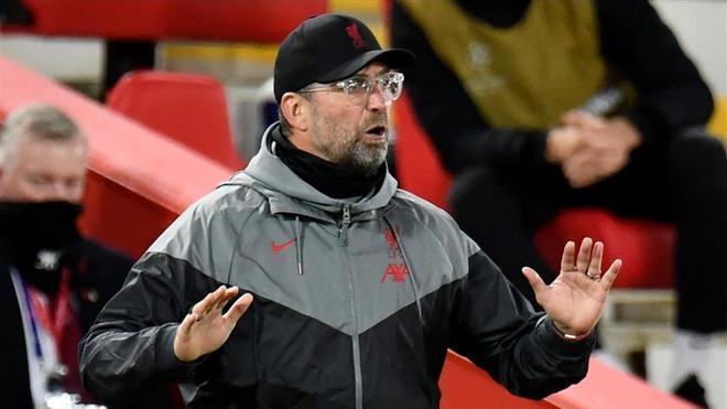 Klopp en el encuentro que enfrentó al Liverpool ante el West Ham (2-1)