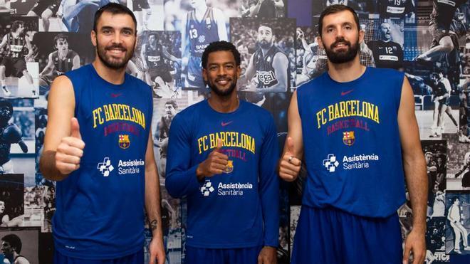 Los capitanes del Barça de basket