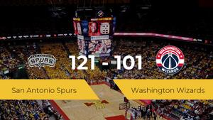 San Antonio Spurs se impone a Washington Wizards por 121-101