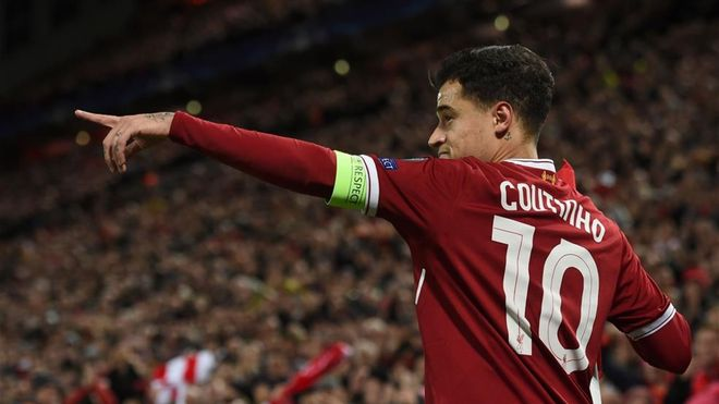 Coutinho se exhibió en la goleada del Liverpool