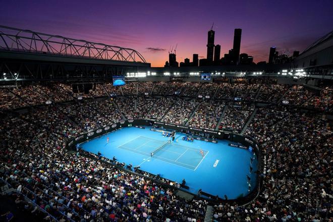 Vista general de la central de Melbourne Park