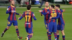 La alineación del Barça contra el Sevilla
