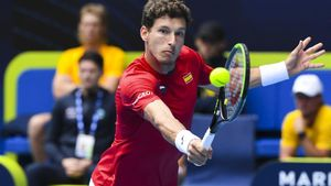 El tenista Pablo Carreño, en la copa ATP