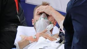 Eriksen, despierto y estable en el hospital