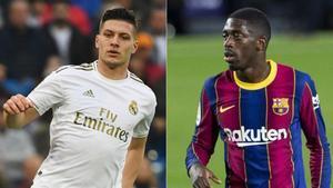 Luka Jovic y Ousmane Dembélé son objetivo de mercado del Manchester United