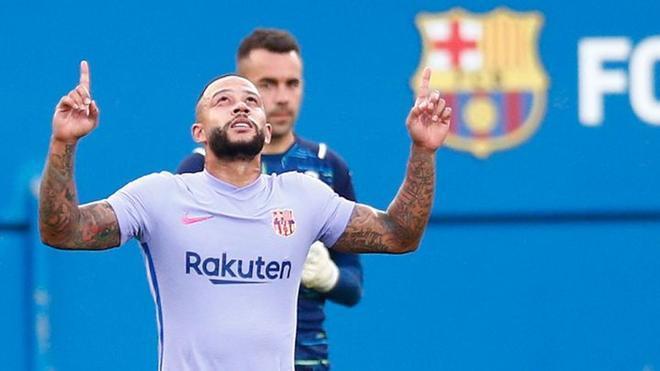Memphis marcó su primer gol como jugador del Barcelona en contra del Girona
