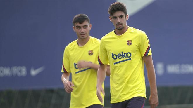 Trincao y Pedri, los grandes alicientes del entrenamiento del Barça