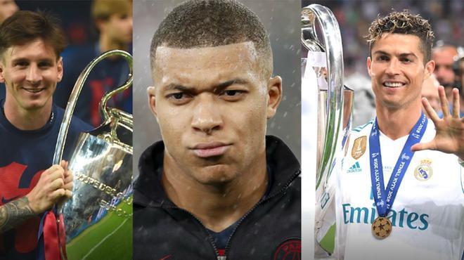 Mbappé, ¿entre Messi y Cristiano Ronaldo?