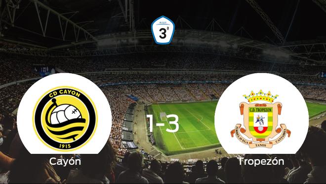 El Tropezón se queda con los tres puntos después de vencer 1-3 al Cayón