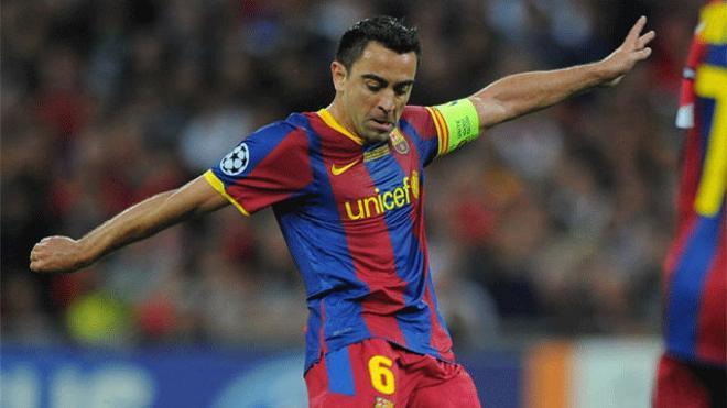 30. Asistencia de Xavi a Pedro en la final de Champions