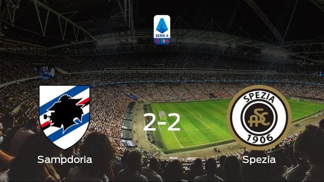 La Sampdoria y el Spezia Calcio se reparten los puntos tras su empate a dos