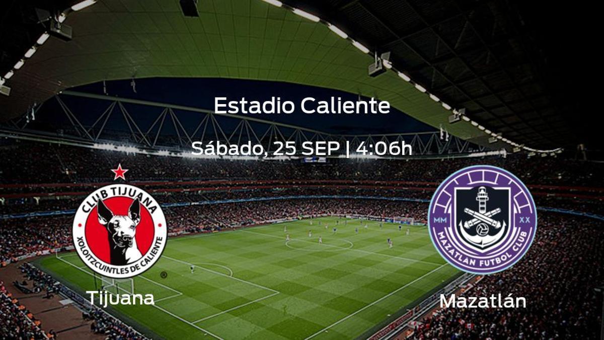 Previa del partido: el Tijuana recibe al Mazatlán en la décima jornada
