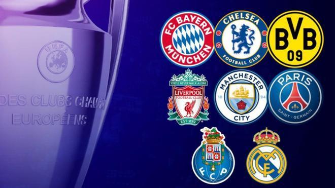 Los ocho equipos del sorteo de cuartos de la Champions