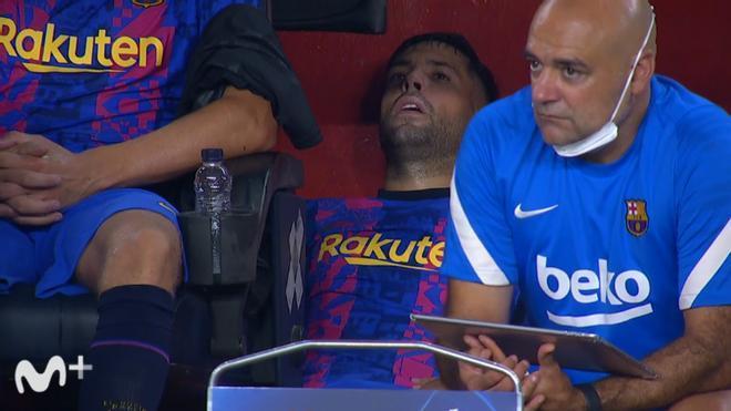¡Qué imagen! Así terminó Jordi Alba el partido contra el Bayern