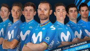 Valverde encabeza el equipo de Movistar