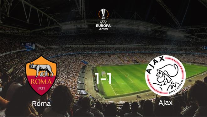 La AS Roma pasa a la siguiente fase de la Europa League después de empatar a uno frente al Ajax