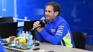 Davide Brivio durante una rueda de prensa