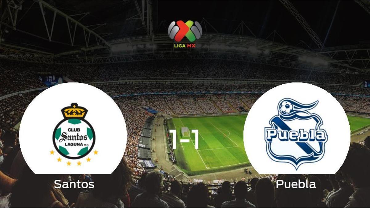 El Santos Lagunay el Pueblase reparten los puntos y empatan 1-1