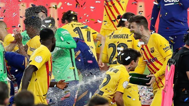 La conquista de la Copa del Rey, una inyección de moral para el Barça