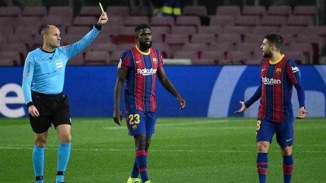 Mateu Lahoz, en el duelo entre el Barça y el Athletic