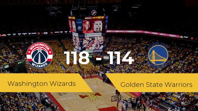 Washington Wizards logra derrotar a Golden State Warriors (118-114)