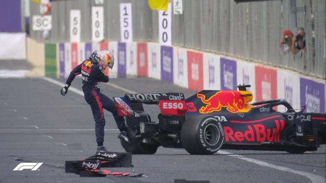 Máxima frustración de Verstappen