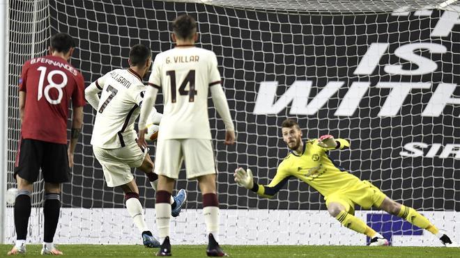 Lorenzo Pellegrini anotó de penalti ante el United
