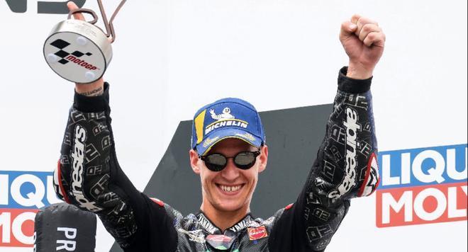 Quartararo celebra su podio en Alemania