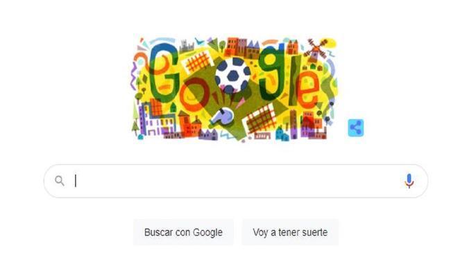 Google le dedica su doodle a la Eurocopa 2020