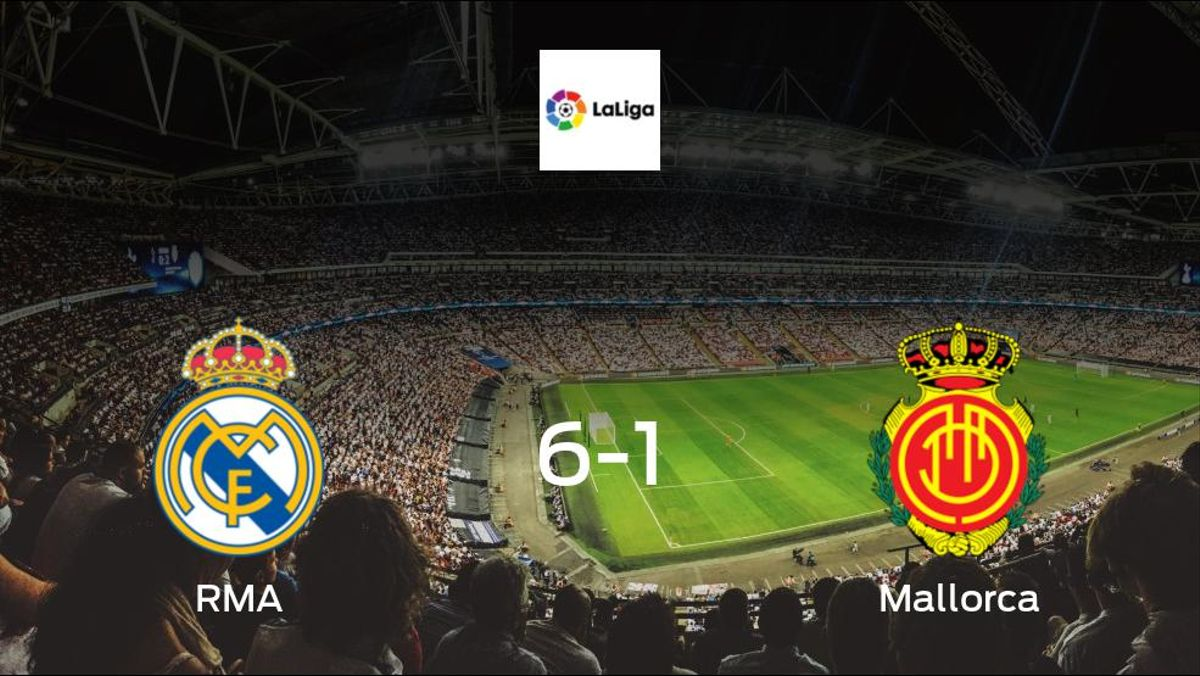 R Madrid cruise to win against Mallorca 6-1 at Madrid